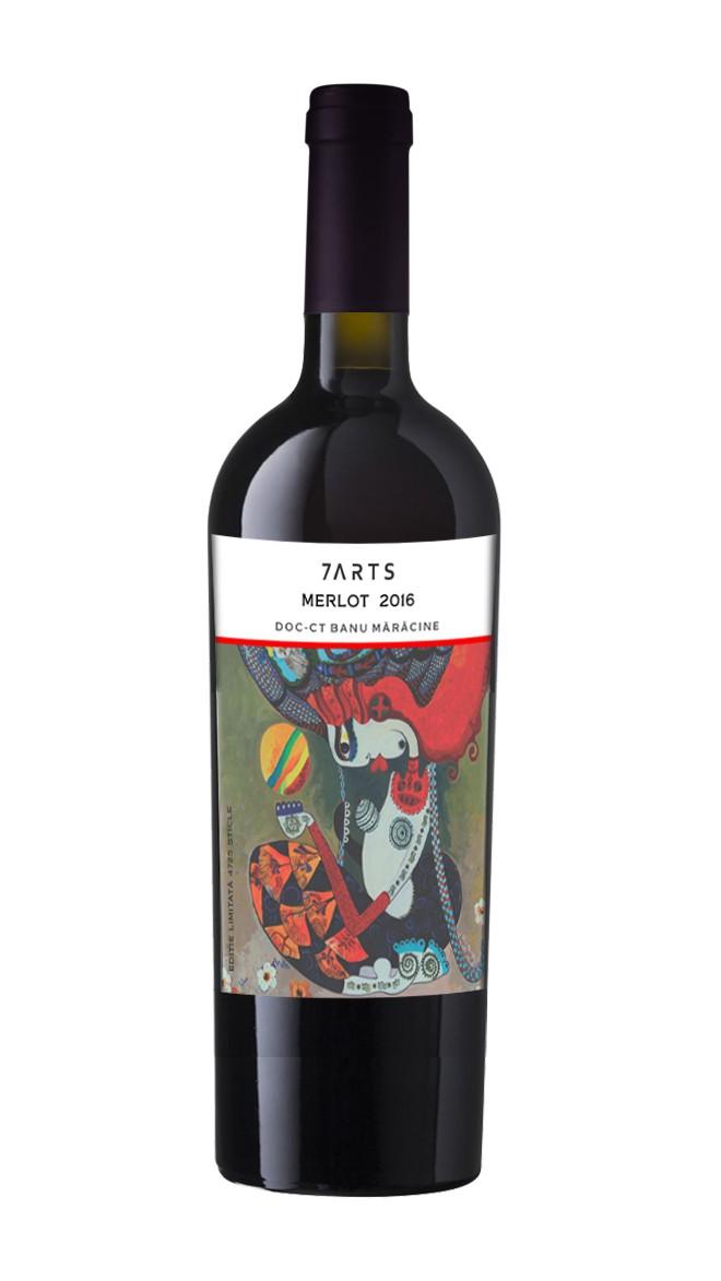 crama romaneasca, 7arts, merlot, vin rosu, vin cadou, vin online, cadou online